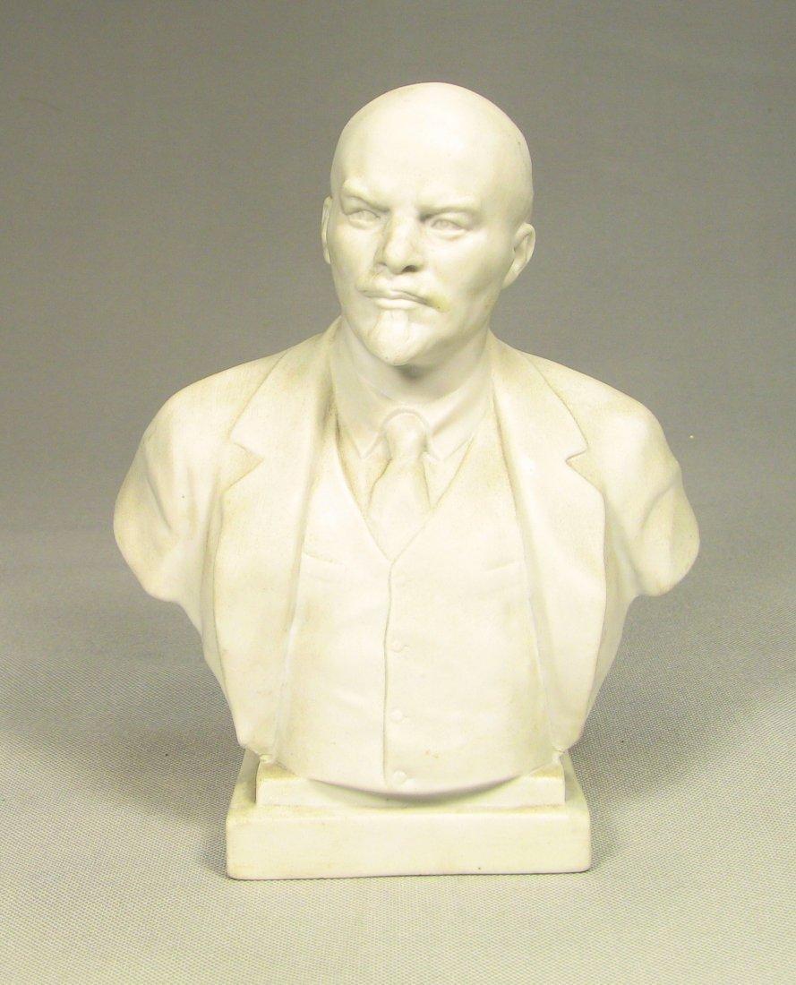 Bust of LENIN Russian LOMONOSOV Factory Fine Bisque