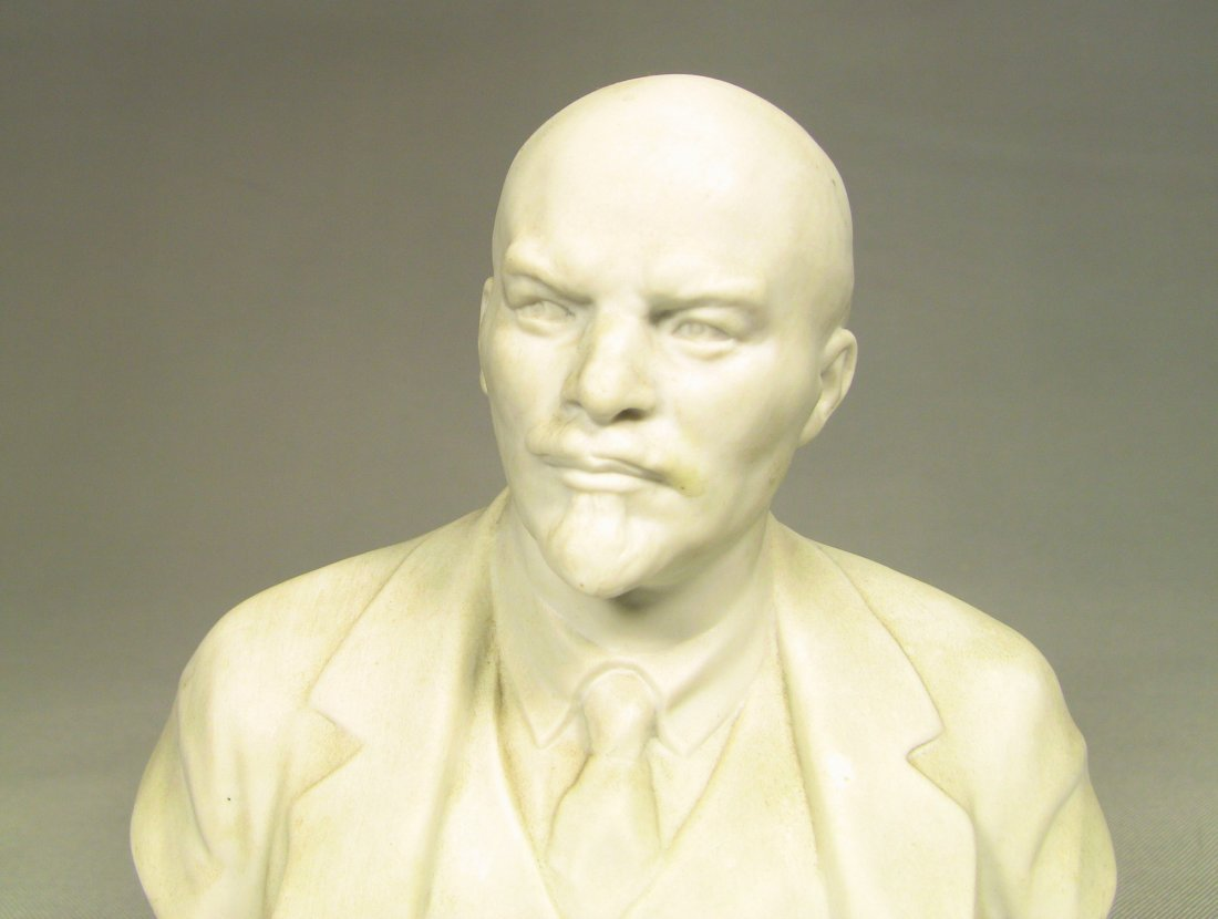 Bust of LENIN Russian LOMONOSOV Factory Fine Bisque - 2
