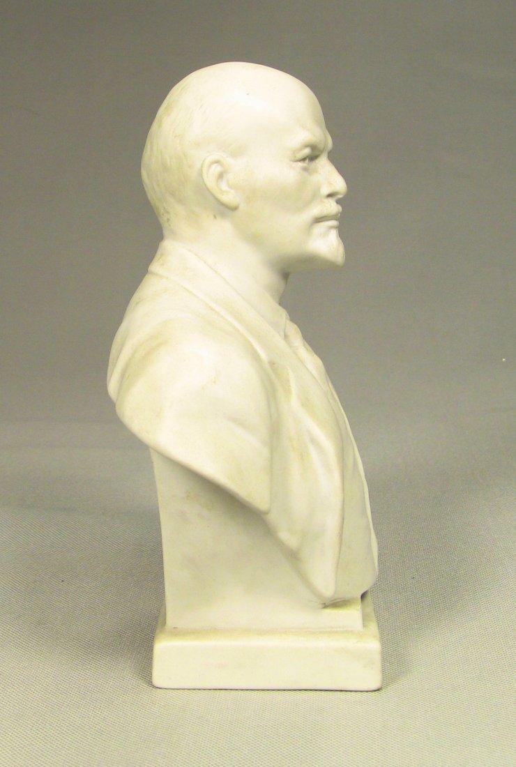 Bust of LENIN Russian LOMONOSOV Factory Fine Bisque - 4