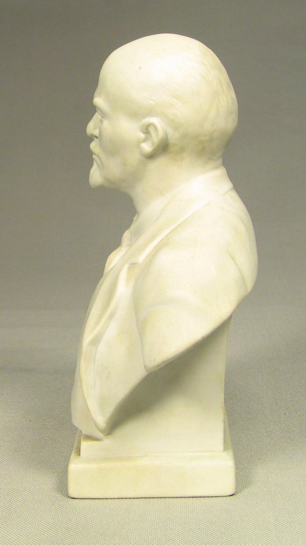 Bust of LENIN Russian LOMONOSOV Factory Fine Bisque - 5