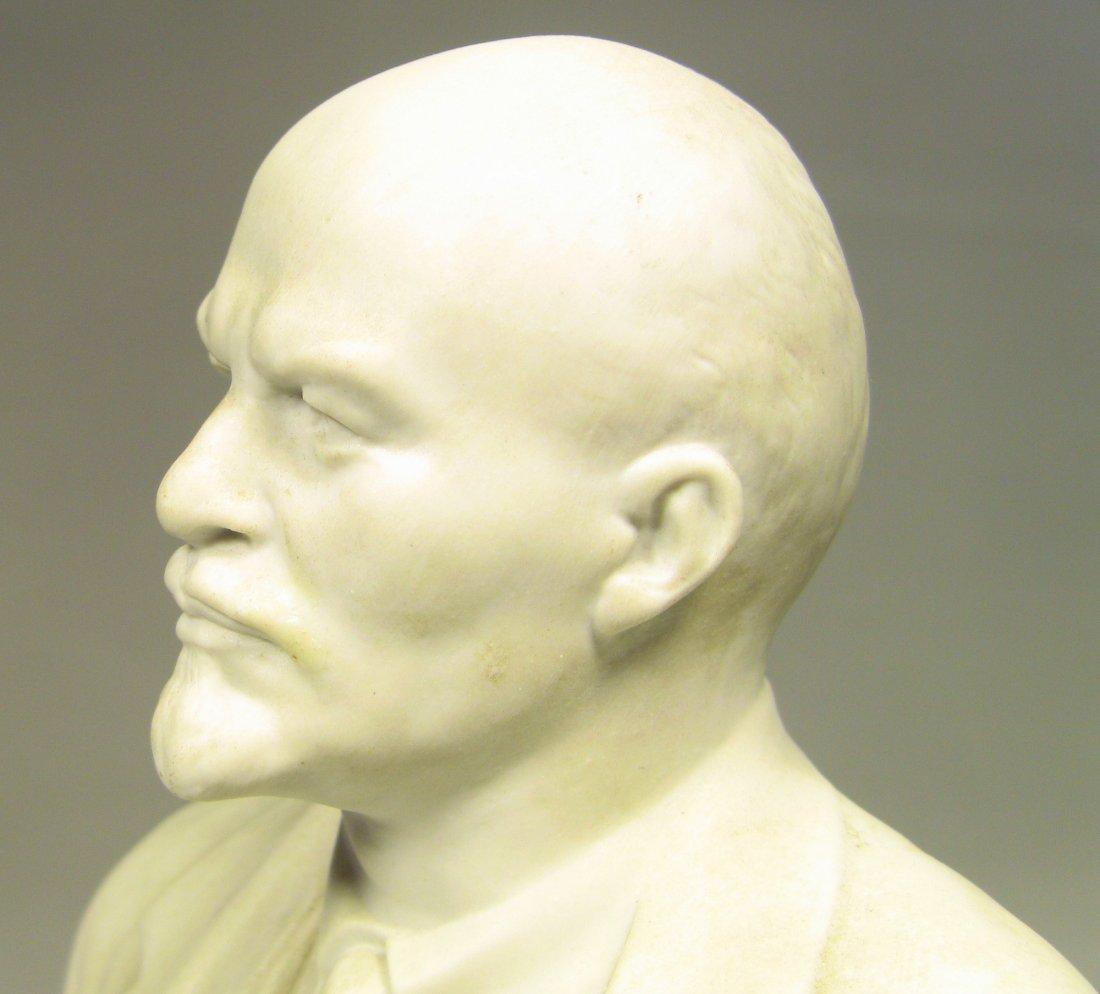 Bust of LENIN Russian LOMONOSOV Factory Fine Bisque - 7