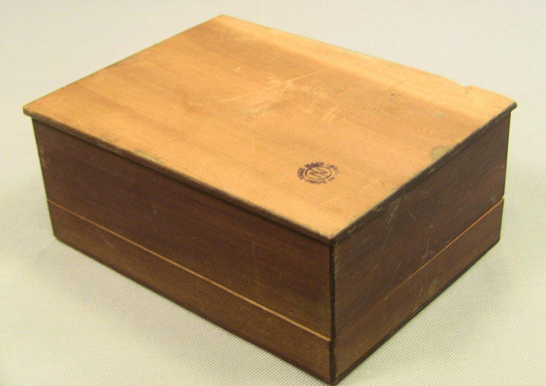 1930's Japanese Veneer Inlay Wooden Jewelry Box Mt.Fuji - 9