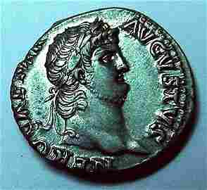 65 AD NERO AR Denarius of Rome EF 18mm; 3.6 g