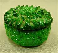 Chinese Green Peking Beijing Glass Box