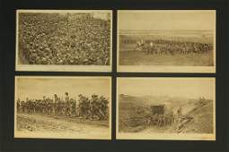 Lof of 4 WWI Daily Mail Battle Pictures Postcard Photos