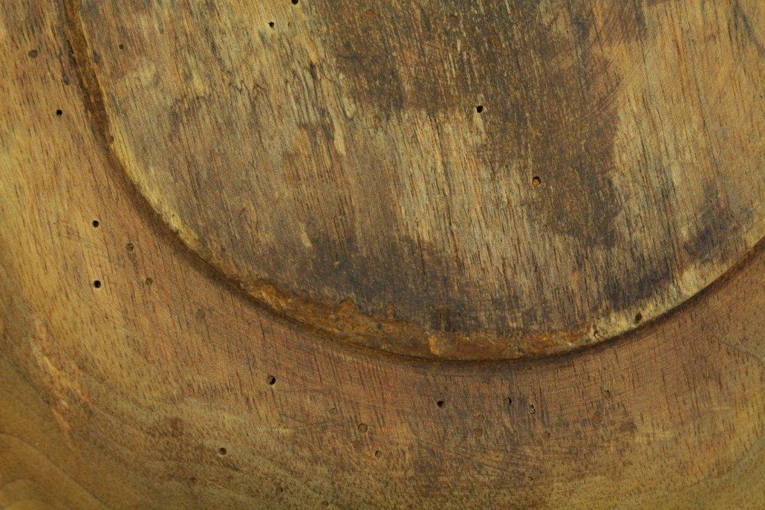 1800s Tyrol/Bavaria Folk Art Treen Ware Plate Edelweiss - 8