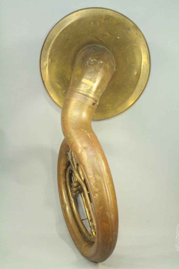 F.E.OLDS & Son Huge Brass Sousaphone Tuba Helicon - 7