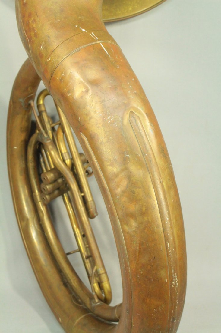 F.E.OLDS & Son Huge Brass Sousaphone Tuba Helicon - 8