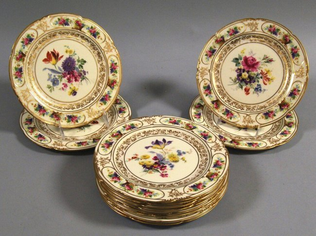 Set 12 Royal Doulton Plates, for TIFFANY & CO.