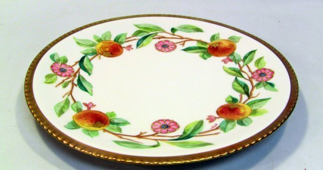 SIGNED Hand Painted LIMOGES FLAMBEAU Plate