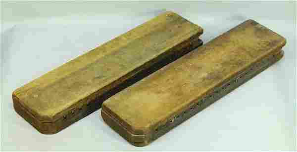 19th/20th c. Pair of Wooden Cigar Molds Forms Press