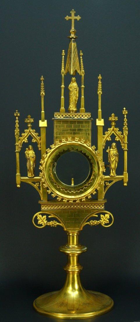 c.1880's Bronze D'Ore Gilt Catholic Reliquary Châsse