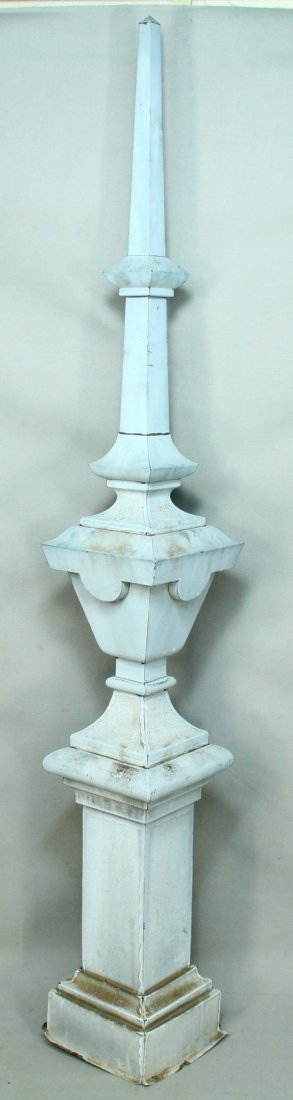 Antique Baroque Tin Rooftop Architectural Spire Finial