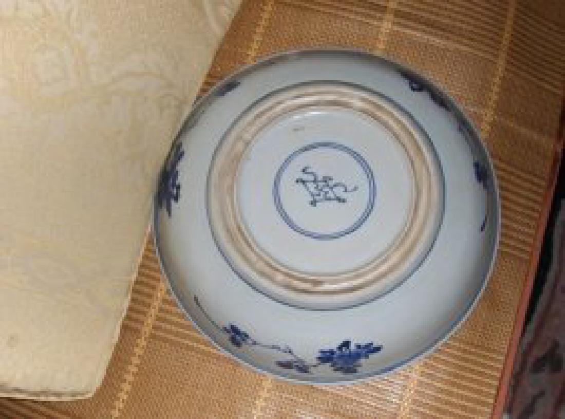 Large chinese kangxi blue and white plate - 2