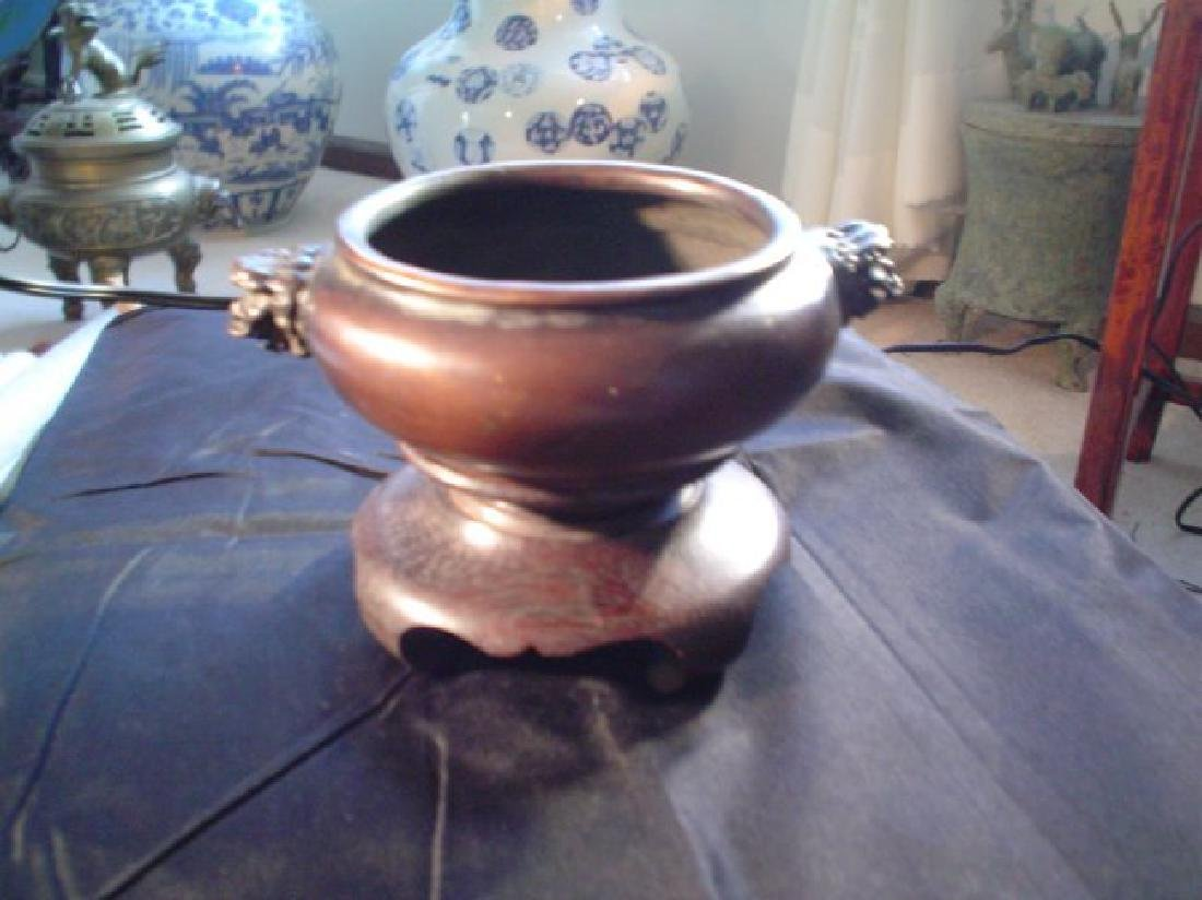 Chinese early Qing bronze incense burner
