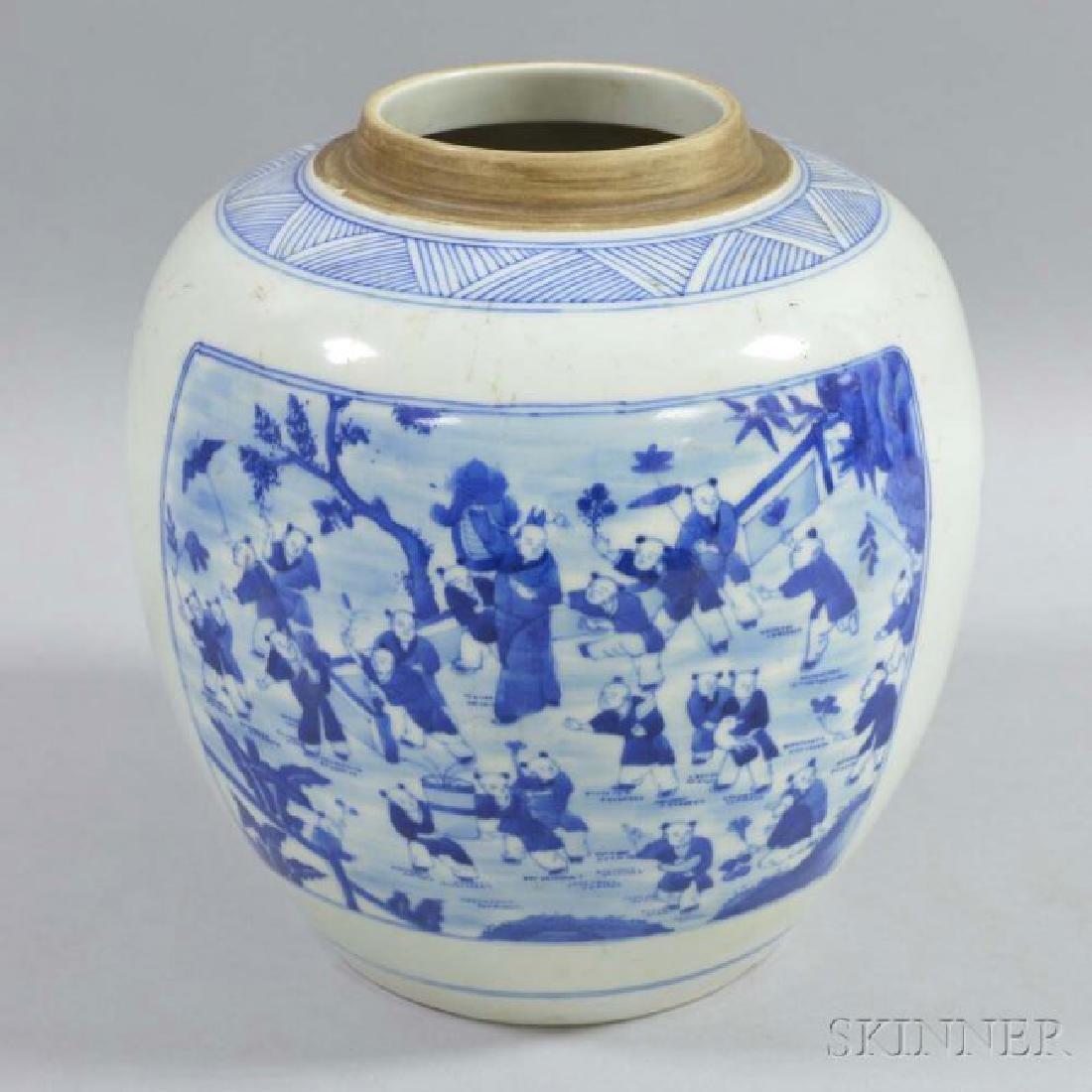 A Chinese kangxi  Blue and White jar