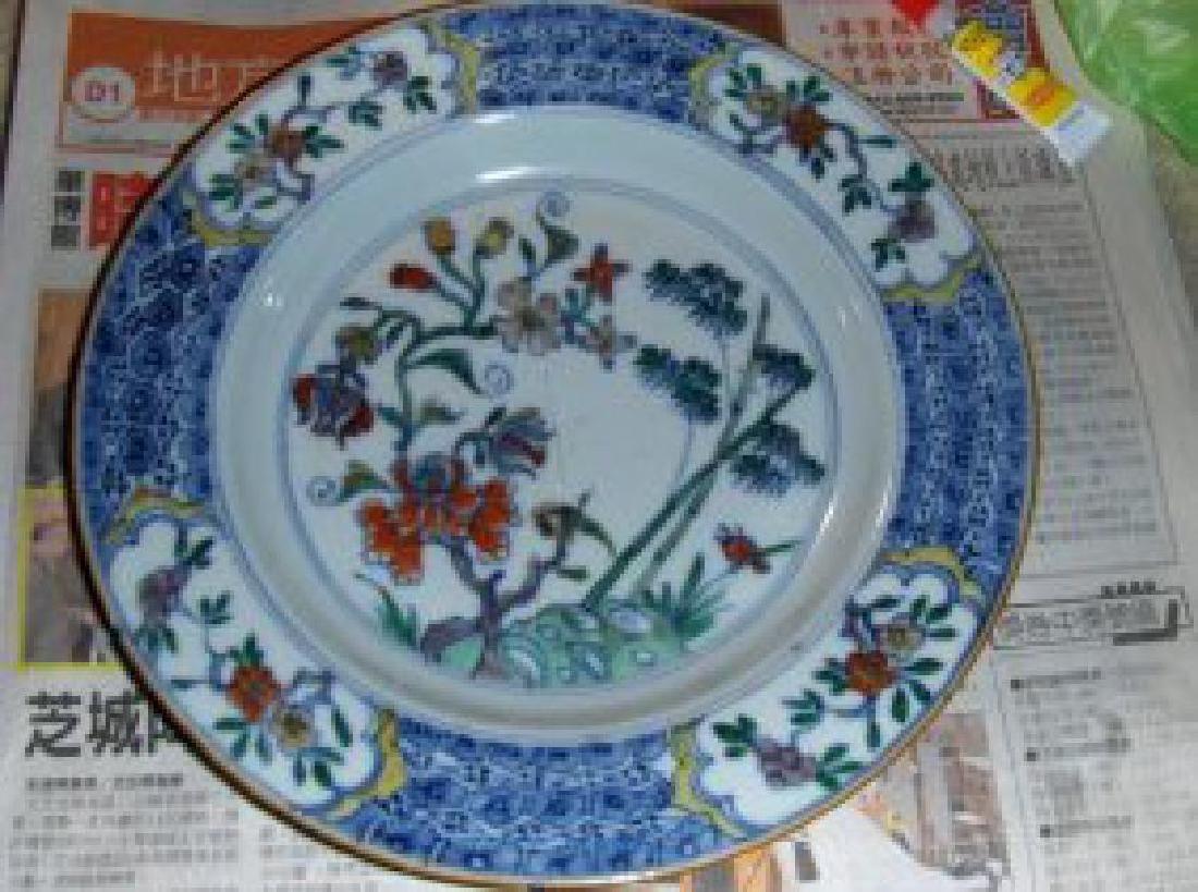 Chinese kangxi doucai plate