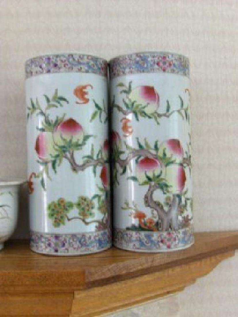 Chinese a pair of hat pot qing