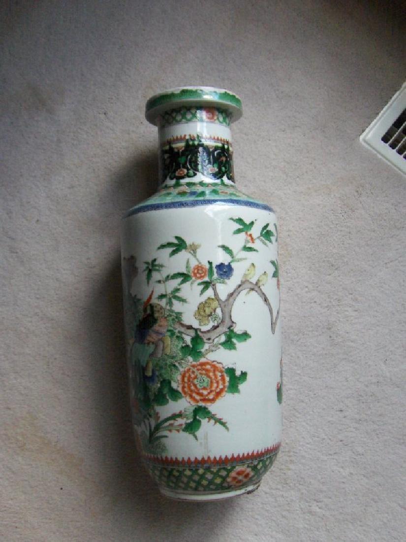 Chinese large famille verte kangxi 17/18th c. vase