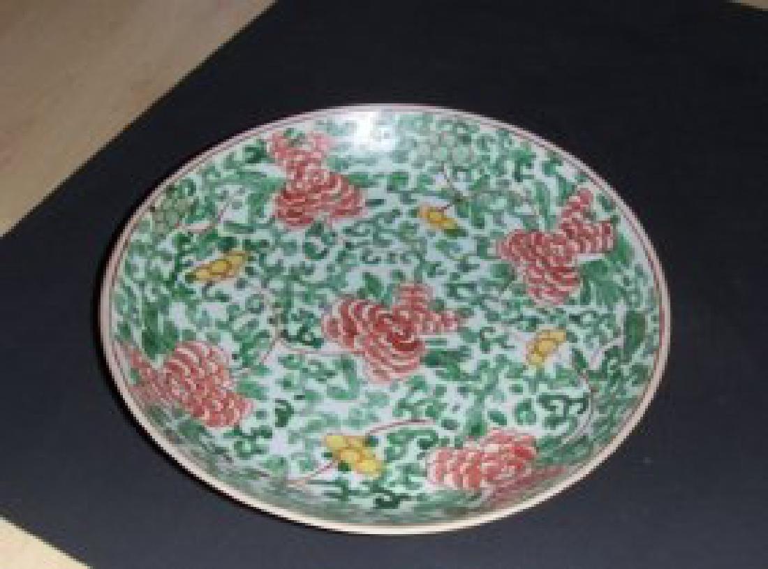 Chinese famille verte kangxi plate