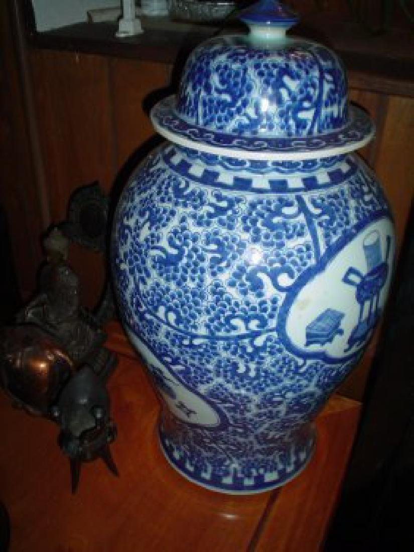 Chinese blue and white 18th century vase