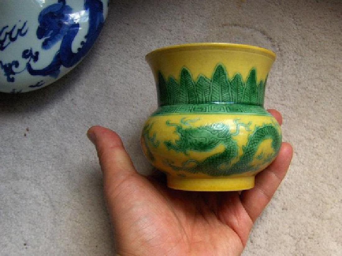 late qing yellow vessel, guangxu mark