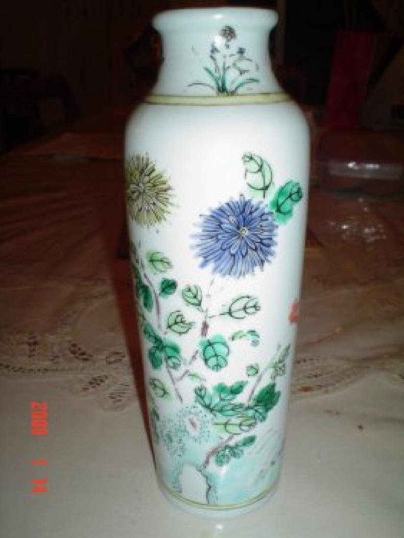 Chinese early qing late ming famille verte vase