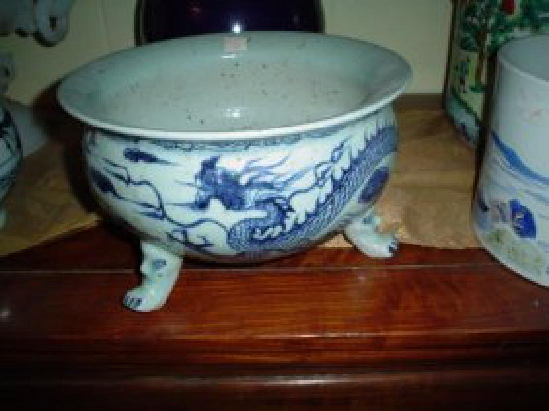 yuan or early ming blue and white incense burner.