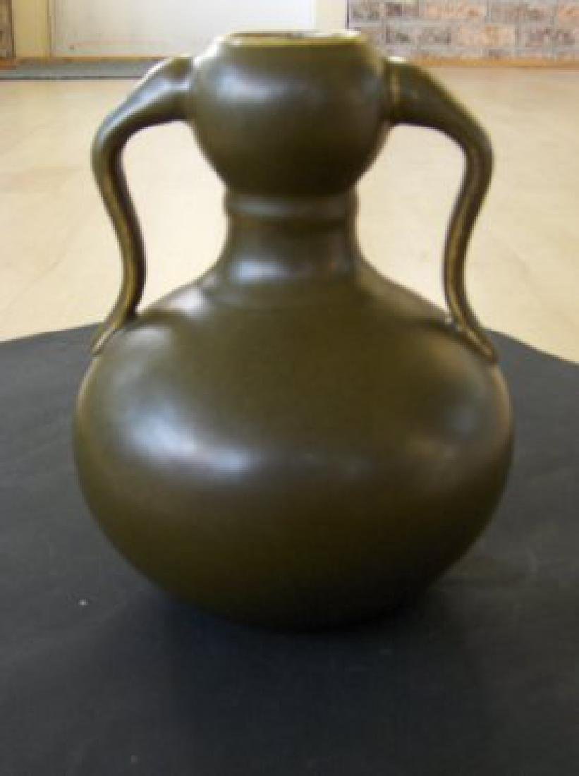 Chinese teadust qianlong vase, qianlong mark and period