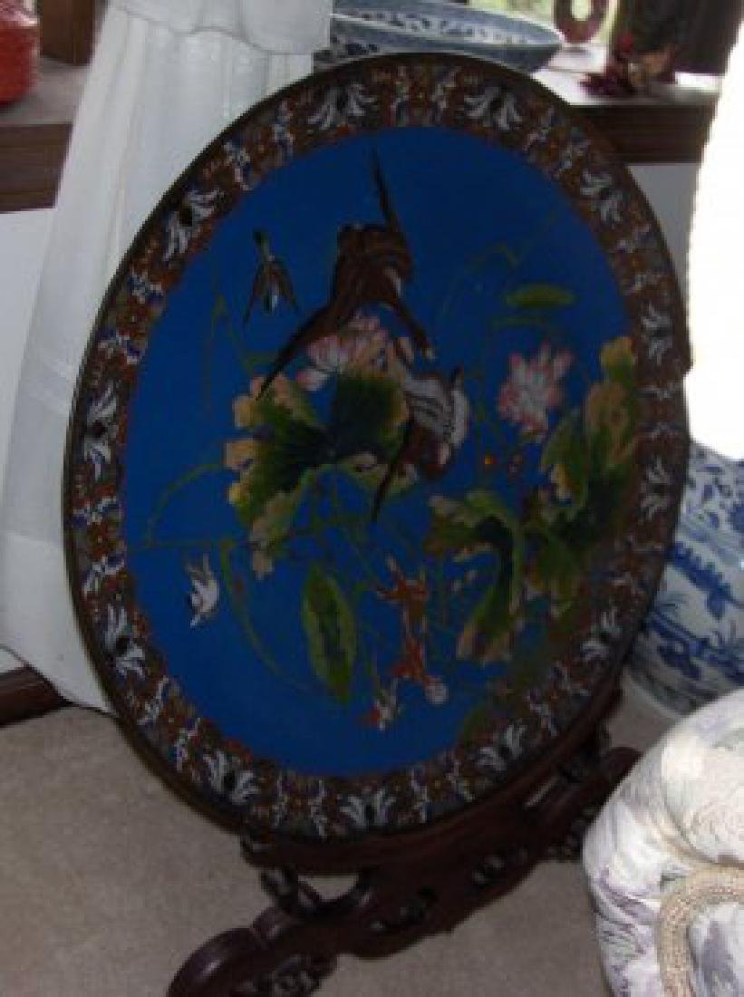 Antique Cloisonne large plate,antique