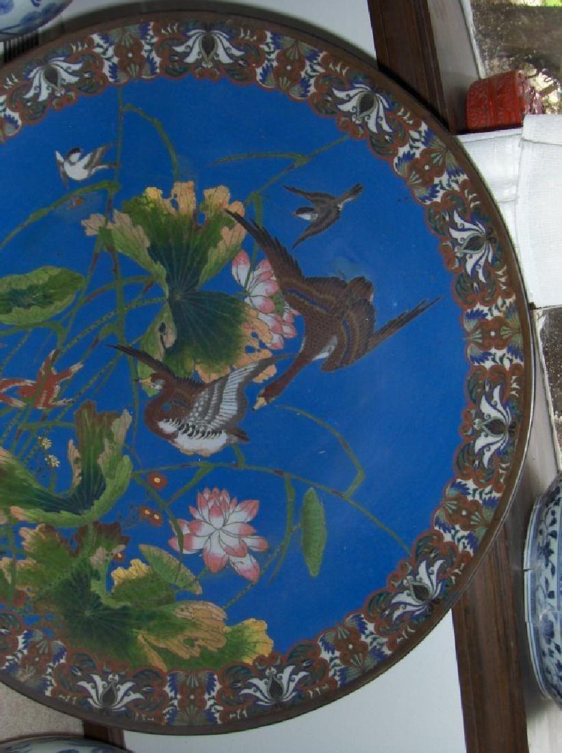 Antique Cloisonne large plate,antique - 3