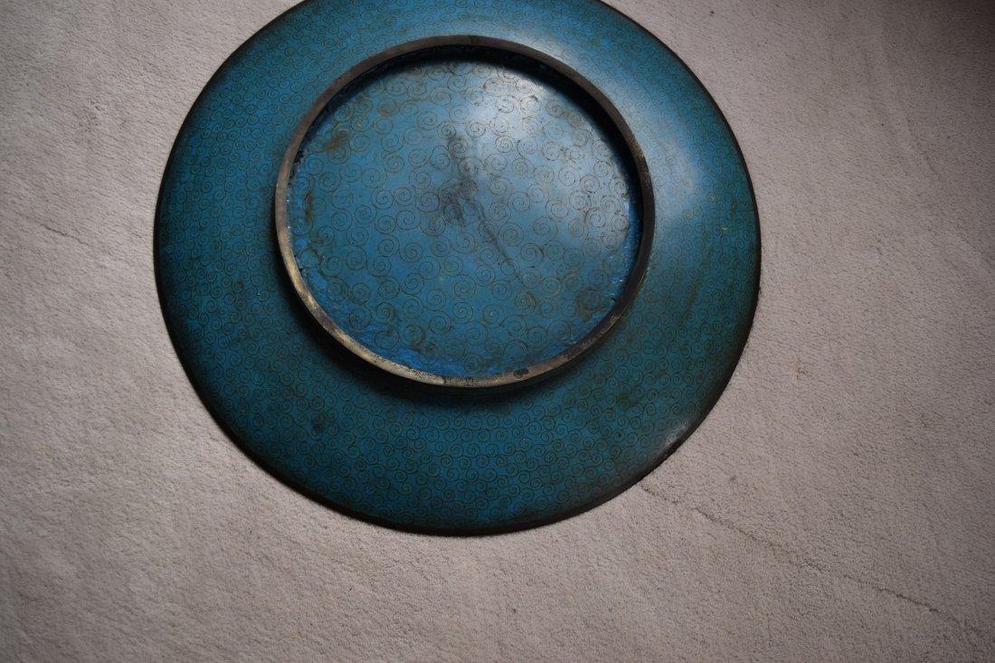 Antique Cloisonne large plate,antique - 4
