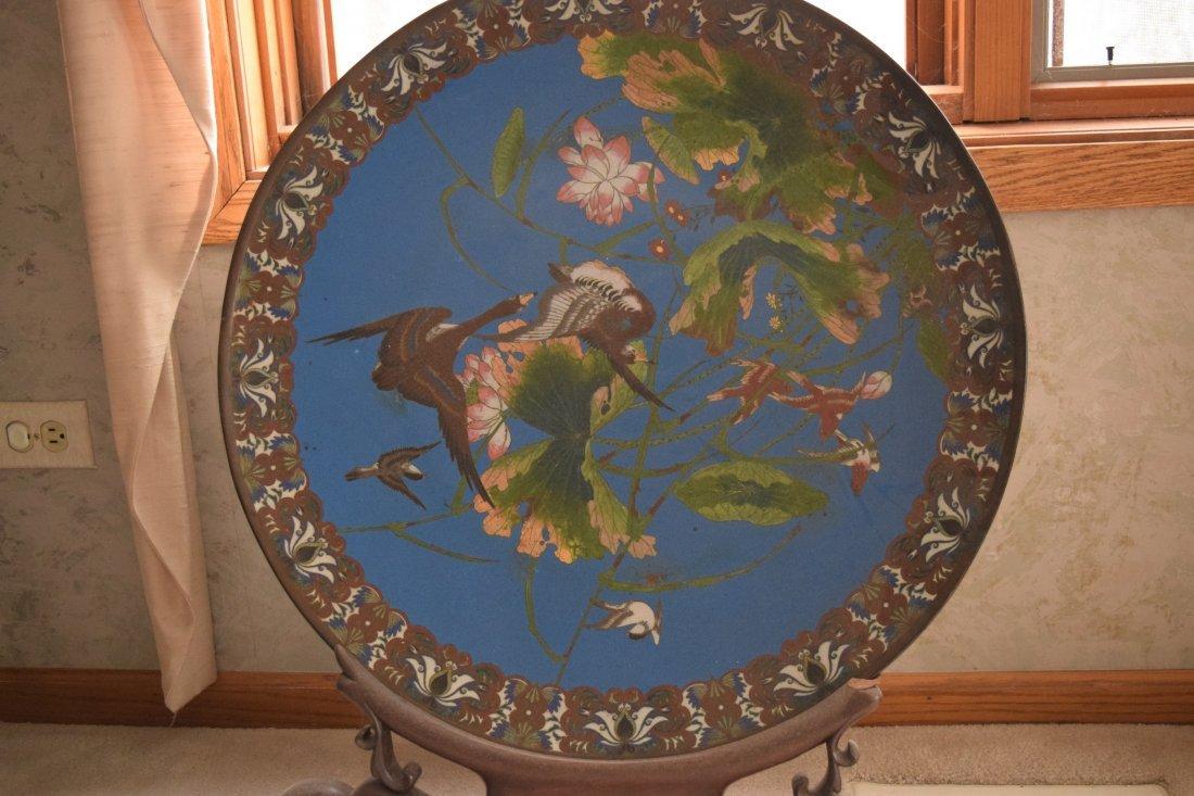 Antique Cloisonne large plate,antique - 6