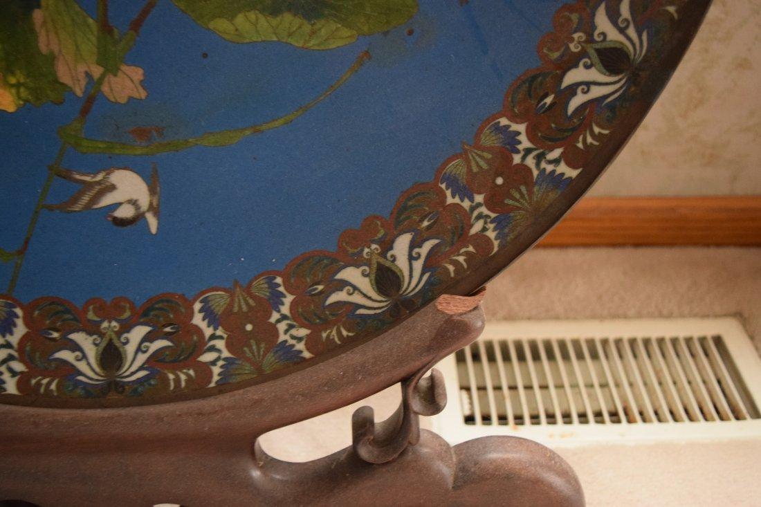 Antique Cloisonne large plate,antique - 7