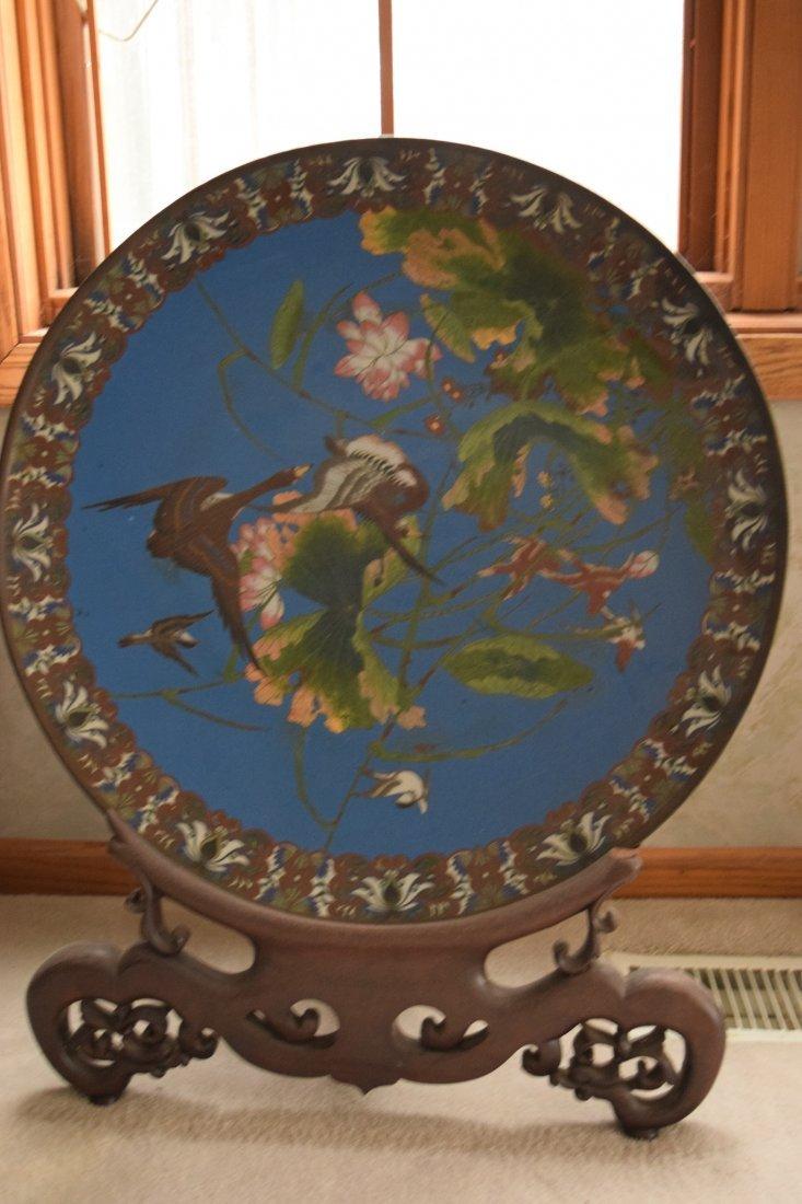 Antique Cloisonne large plate,antique - 8