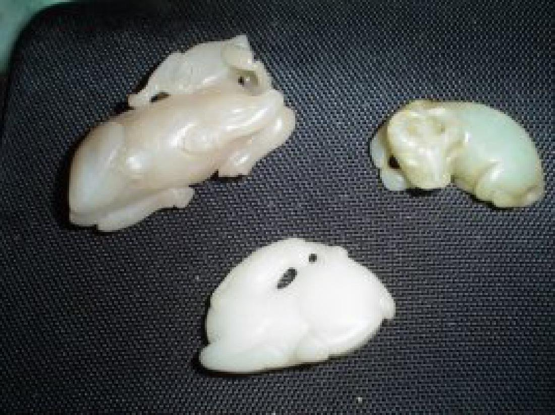 Three animal carvings. antique