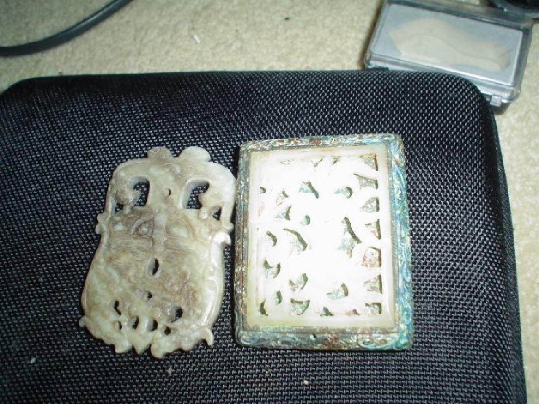 Two Chinese jade piece, possible ming or older