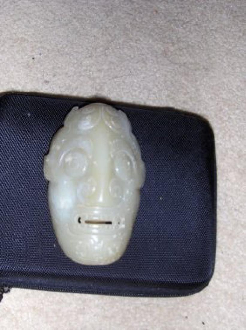Chinese antique jade face mask