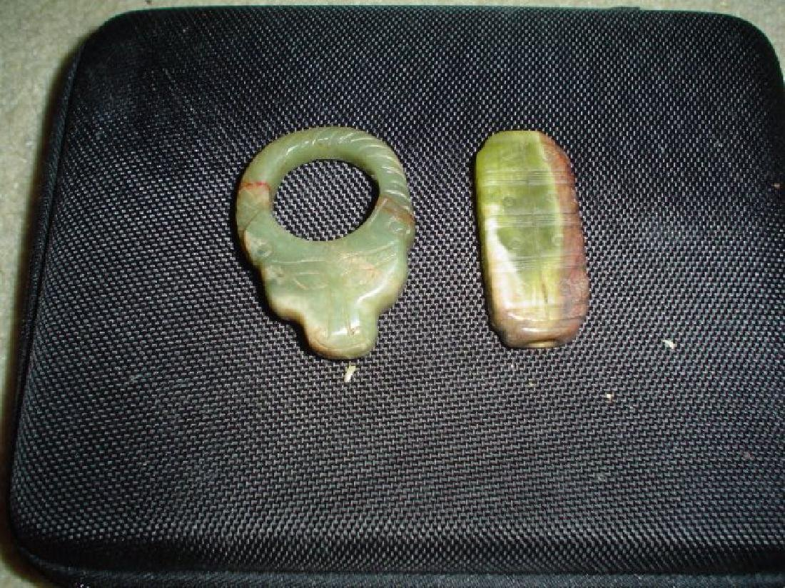 Two Chinese han or older jade carving.