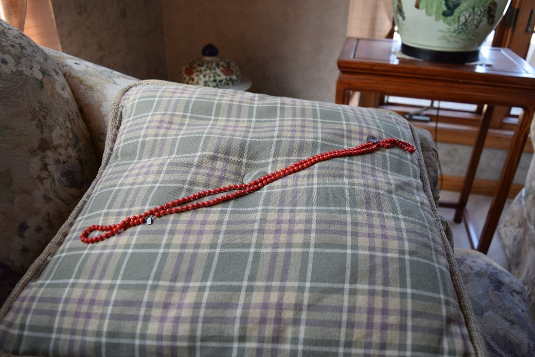 Chinese coral necklace. - 4
