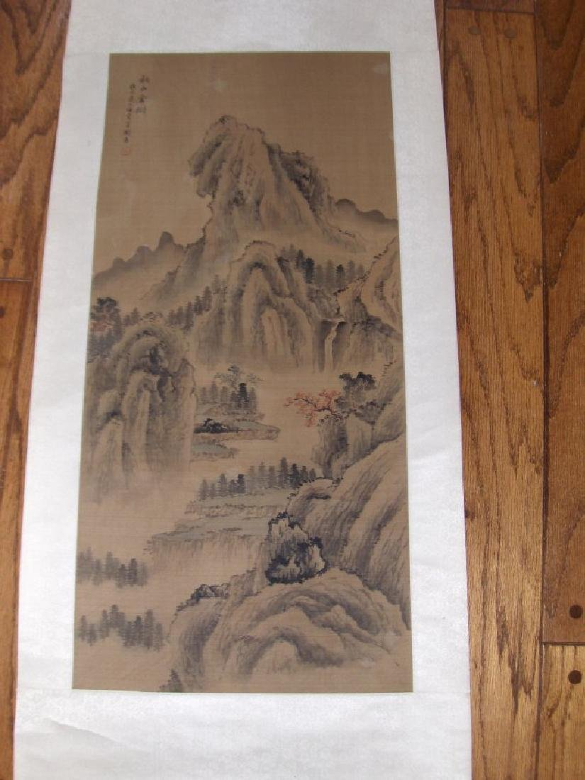 Chinese painting antique, pissible qing dynasty