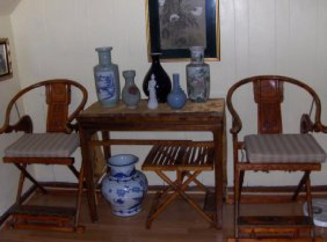 A pr ming dynasty imperial horse back huanghauli chairs