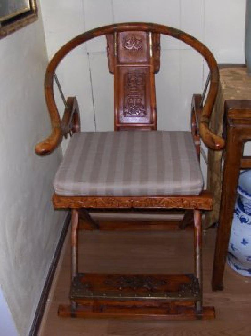 A pr ming dynasty imperial horse back huanghauli chairs - 2