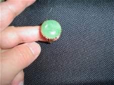 Chinese ring, large jadeite, 14K, 9.6 grams