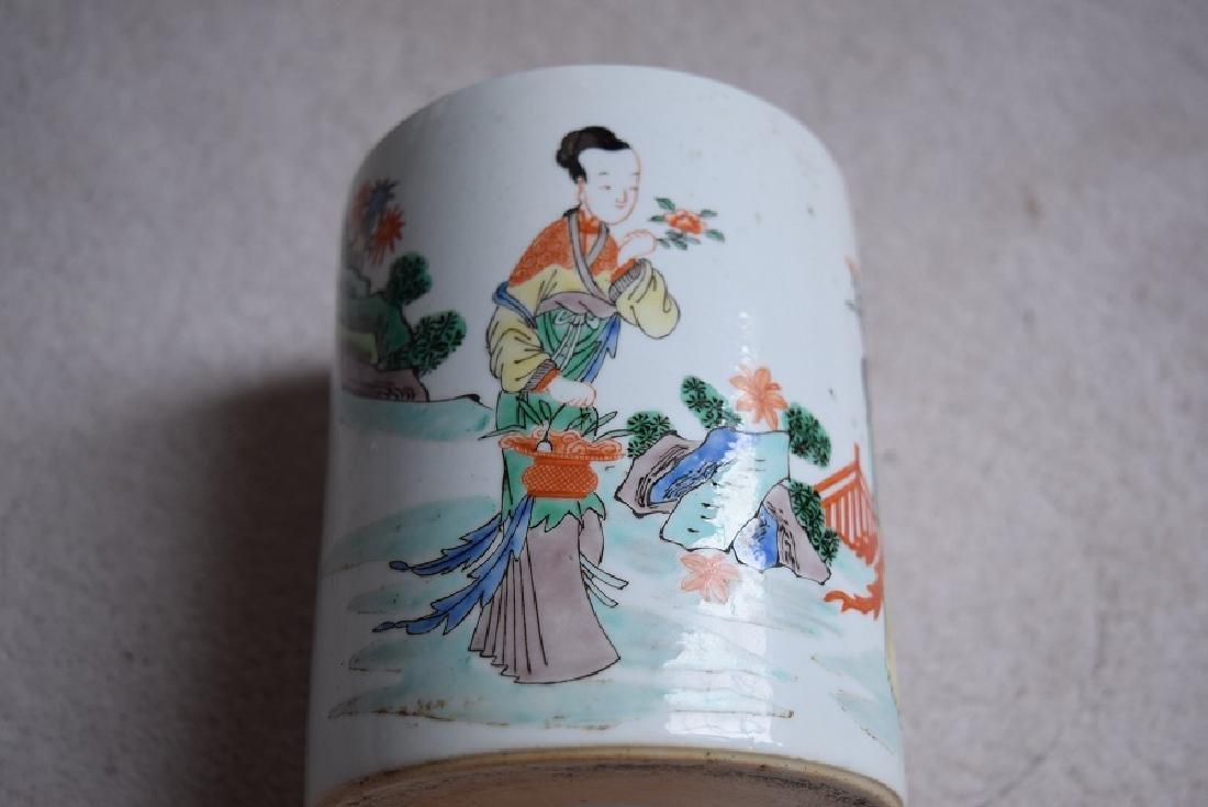 Chinese kangxi small brush pot - 3