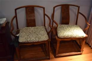 a pair early qing dynasty huanghuali chair