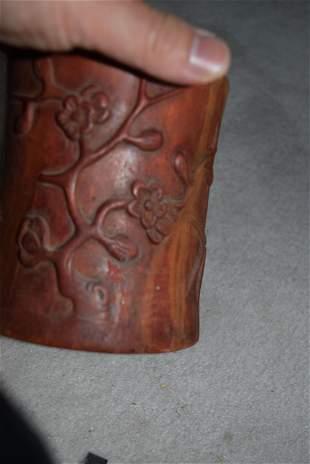 qing dynasty bamboo carved bitong.