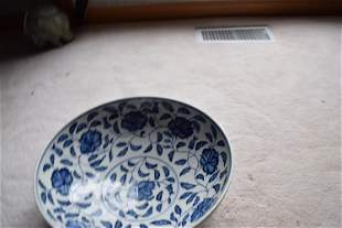 early qing dynasty blue and white large bowl