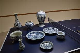 ten yuan dynasty blue and white collections.