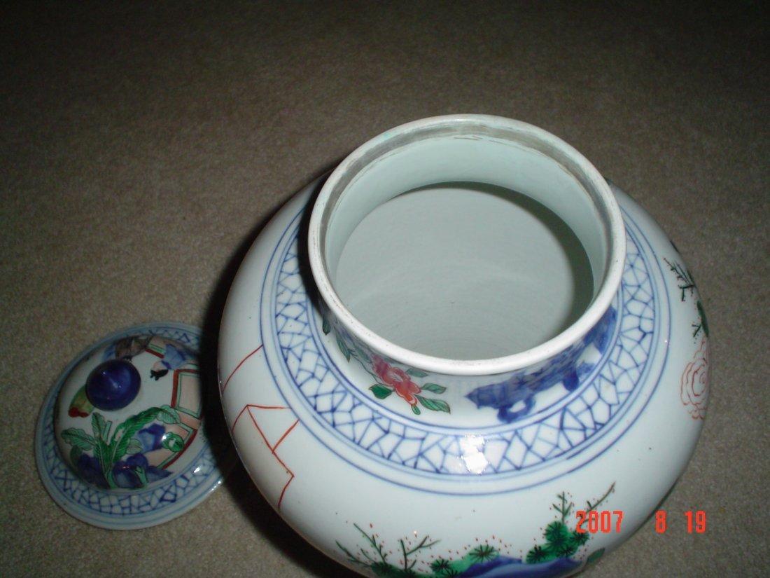 Chinese famille verte large 18th century vase. - 3